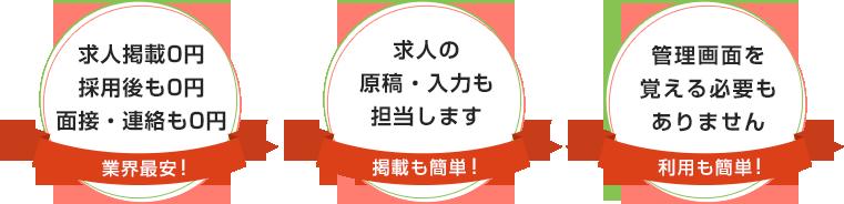 求人掲載・採用後も0円